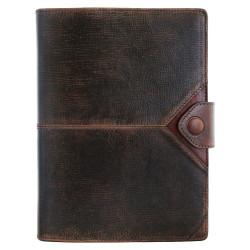 Ежедневник Privilege Бомбер А5 кожаный, коричневый с золоченым срезом страниц