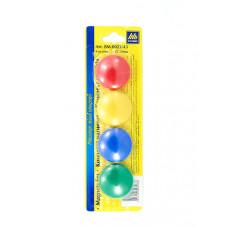 Набор магнитов BuroMax d 3 см 4 штуки цветные Арт. BM.0022-43