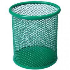 Стакан для ручек BuroMax круглый металл. сетка зеленый Арт. BM.6202-04
