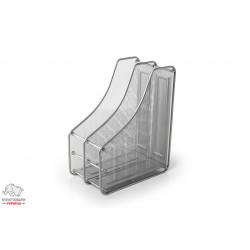 Лоток для бумаг вертикальный Leader 2 отделения металл. сетка серебро Арт. FS-04/Z021