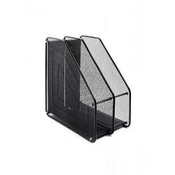 Лоток для бумаг вертикальный Leader 2 отделения металл. сетка черная Арт. FS-03/Z020