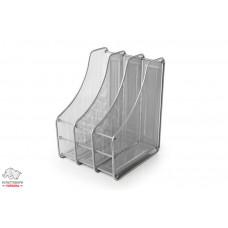 Лоток для бумаг вертикальный Leader 3 отделения металл. сетка серебро Арт. FS-06/Z023
