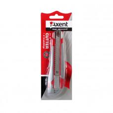 Нож канцелярский Axent 18 мм в пластиковом корпусе + 2 запасных лезвия Арт. 6702-А