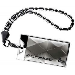 Флеш-память Silicon Power Touch 850 Titanium 8Gb USB 2.0 Арт. 5684614