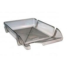 Лоток для бумаг горизонтальный Delta by Axent пластик графитовый Арт. D4001 13901