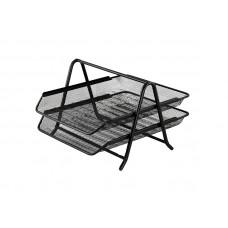 Лоток для бумаг горизонтальный BuroMax металл сетка черный Арт. BM.6250-01