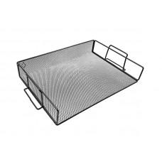 Лоток для бумаг горизонтальный BuroMax металл. сетка черная Арт. BM.6251-01