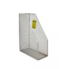 Лоток для бумаг вертикальный BuroMax металл. сетка серебро Арт. ВМ.6260-24