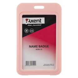 Бейдж Axent вертикальный PP 70х110 мм розовый Арт. 4530-10-А