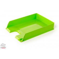 Лоток для бумаг горизонтальный Esselte VIVIDA пластик салатовый Арт. 20570