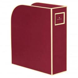 Лоток для бумаг вертикальный Semikolon А4 бордовый Арт. 336-05