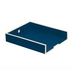 Лоток для бумаг горизонтальный Semikolon А4 цвет морской Арт. 331-03