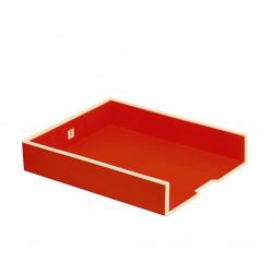 Лоток для бумаг горизонтальный Semikolon А4 цвет красный Арт. 331-04
