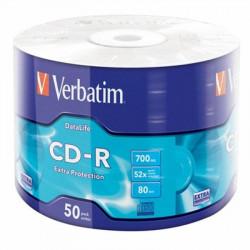 Диск CD-R Verbatim 700Mb 52x Wrap box 50 шт.