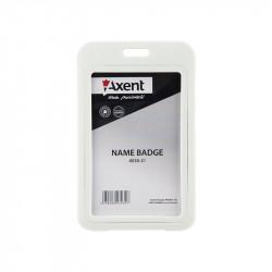 Бейдж Axent вертикальный PP 70х110 мм белый Арт. 4530-21-А
