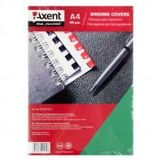 Обложка для переплета Axent А4 250 г/м2 картон под кожу зеленый Арт. 2730-04-А 36851 /за 50 штук/