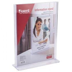Информационная табличка Axent 297х210 мм двухсторонняя прозрачная Арт. 4540-A