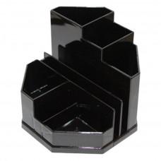 Подставка-органайзер Спектр без наполнения пластик черный ( ПН-3ч)