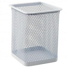 Стакан для ручек Axent квадратный металл. сетка белый Арт. 2111-21-A