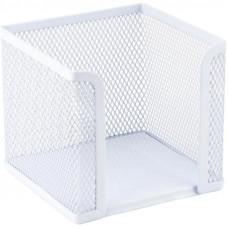 Бокс для бумаг Axent 10х10х10 см металл. сетка белый ( 2112-21-A)