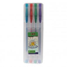 Набор ручек гелевых ZIBI Glitter 4 цвета с блестками ( ZB.2200-99)