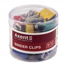 Биндер Axent 25 мм металлический цветной /за 12 шт/  (4410-A)