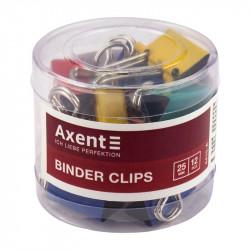 Биндер Axent 25 мм металлический цветной /за 12 шт/ Арт. 4410-A