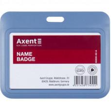 Бейдж-слайдер Axent горизонтальный ABS пластик 85х54 мм синий  (4500h-02-A)