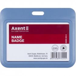 Бейдж-слайдер Axent горизонтальный ABS пластик 85х54 мм синий Арт. 4500h-02-A