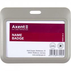 Бейдж-слайдер Axent горизонтальный ABS пластик 85х54 мм серый Арт. 4500h-03-A