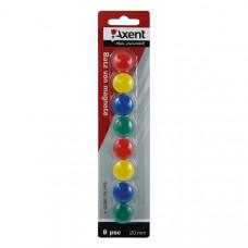 Набор магнитов Axent d 2 см 8 штук цветные Арт. 9820-A