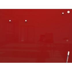 Доска стеклянная магнитно-маркерная 80х60 см без рамки красная