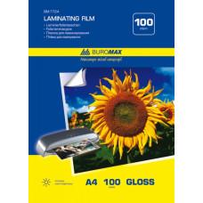 Пленка для ламинирования BuroMax 216х303 мм 100 мкм А4 /за уп. 100 листов/ Арт. ВМ.7724