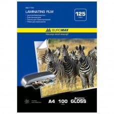 Пленка для ламинирования BuroMax  А4 216 х 303 125 мкм /за уп. 100 листов/ Арт. ВМ.7725
