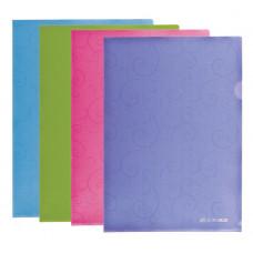 Папка-уголок BuroMax Barocco А4 пластиковый цвет ассорти Арт. ВМ.3851-99