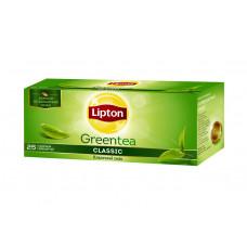 Чай зеленый пакетированный Lipton Green Classic 25 пакетиков
