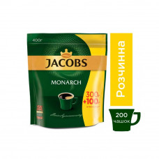Кофе растворимый Jacobs Monarch 400 грамм эконом пакет