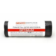 Пакеты для мусора ProService Optimum 60 л 60х75 см черные HD /упак. 20 шт/ Арт. 16117900