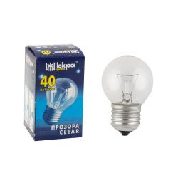 Лампа накаливания Iscra Б-230 PS45 60 Вт Е27 шар прозрачная
