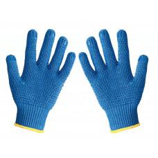 Перчатки DOLONI трикотажные с ПВХ рисунком Арт. 646 синие