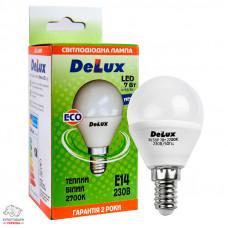 Лампа светодиодная Delux BL50P 7 Вт Е14 миньон 2700 К теплое свечение