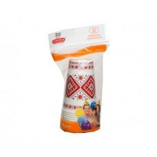Стакан Eventa одноразовый бумажный 300 мл с рисунком Украинская коллекция /в упак. 10 штук/