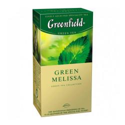 Чай Greenfield Green Melissa зеленый байховый с листьями мелиссы и мяты и ароматом лимона 25x1, 5 г (106013)