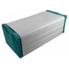 Полотенца бумажные листовые Well's V-сложения зеленые макулатурные 160 листов