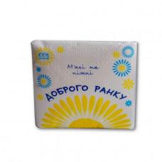 Салфетки бумажные Доброго ранку однослойные 24х24 см 100 шт белые