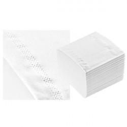 Бумага туалетная листовая Clean Point Lux Large 3-х слойная белая 240 листов