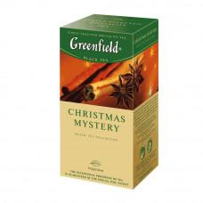 Чай Greenfield Christmas Mystery черный байховый с корицей и гвоздикой 25 пакетиков