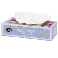 Салфетки бумажные Silken MACARON 2-х слойные в коробке 100 штук