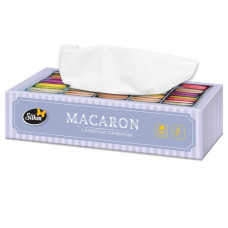 Салфетки бумажные Silken MACARON 2-х слойные в коробке 100 шт