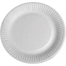 Тарелка одноразовая бумажная d 230 мм 100 штук в упаковке Арт. 40182
